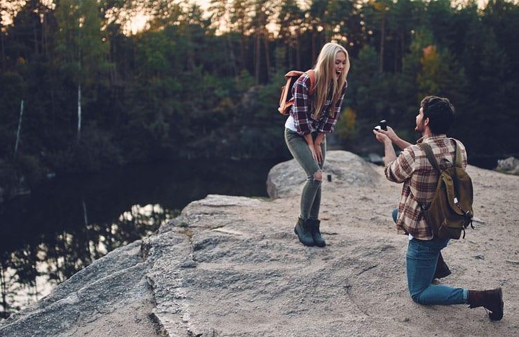 perfekte Ort Verlobung und Antrag