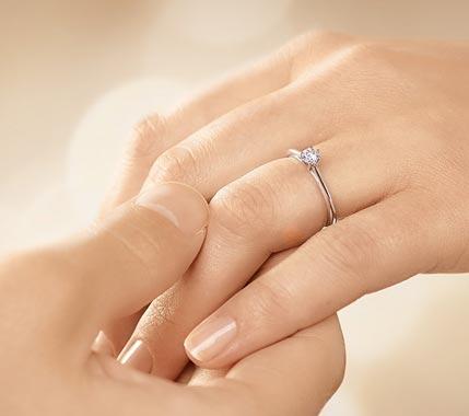 Verlobungsringe Platin Diamant: Solitärring Heaven 6, 0,25ct