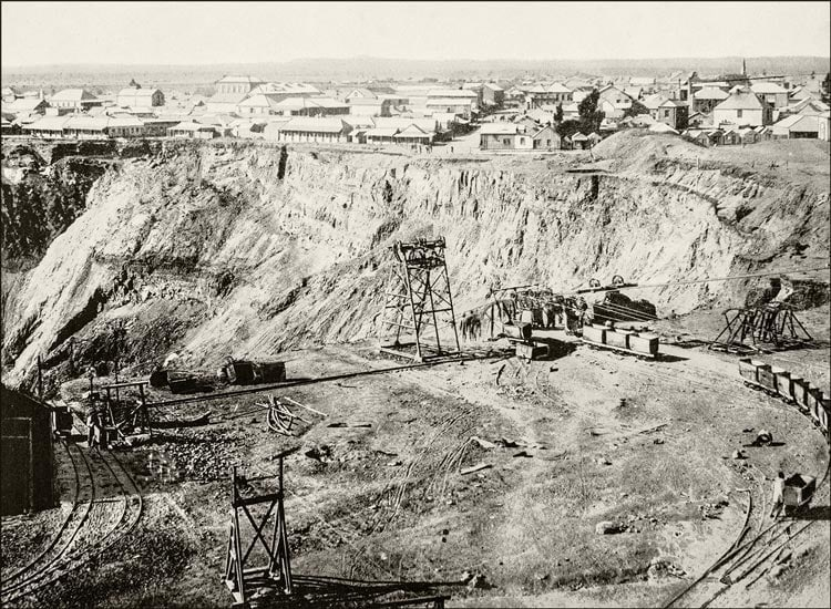 Geschichte Diamanten: Diamant Mine Südafrika