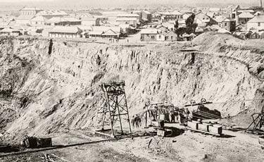 Geschichte Diamanten: Diamantmine Südafrika