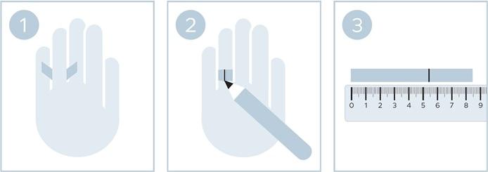 Ringgröße ermitteln mit Papierstreifen ohne Ring