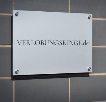 Der Eingang zum VERLOBUNGSRINGE.de-Showroom
