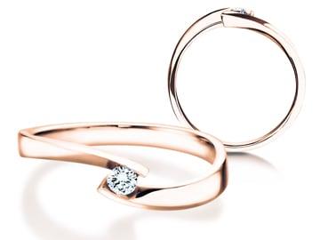 Verlobungsring Twist Petite Roségold