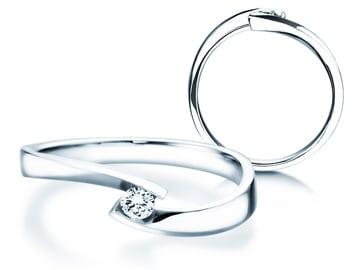 Verlobungsring Twist Petite Weißgold