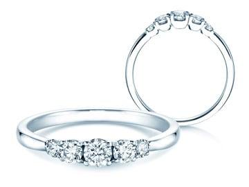 5 Diamonds Verlobungsringe Weißgold