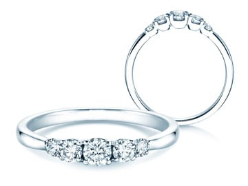 5 Diamonds Verlobungsringe Platin