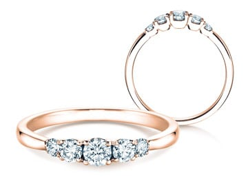 5 Diamonds Verlobungsringe Roségold
