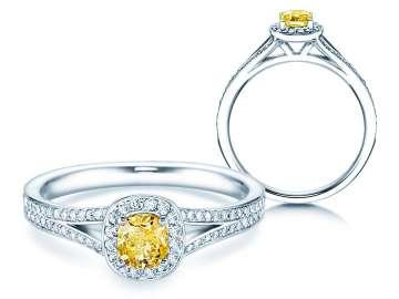 Fancy Cuts Verlobungsringe Weißgold