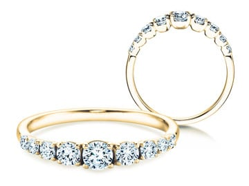 9 Diamonds Verlobungsringe Gelbgold