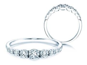 9 Diamonds Verlobungsringe Weißgold