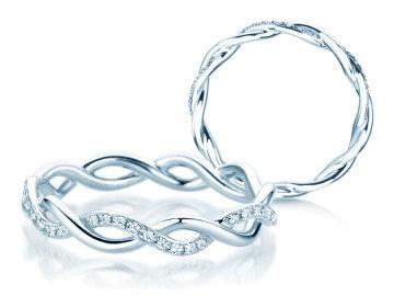 Verlobungsring Sparkling Curve