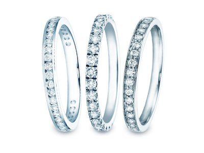 Eternityringe  – diamantbesetzte Ringschiene