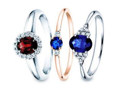 Farbedelsteinringe  – Verlobungsringe mit Farbedelstein
