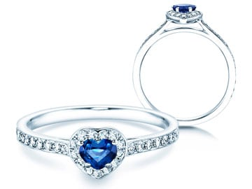 Verlobungsring Heart Saphir