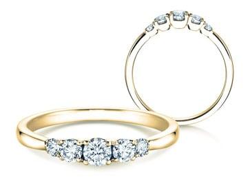 5 Diamonds Verlobungsringe Gelbgold