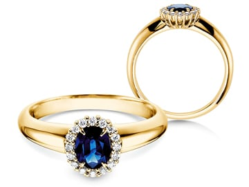 Verlobungsring Windsor Gelbgold