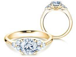Verlobungsring Glory in 14K Gelbgold mit Diamanten 1,80ct