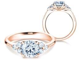 Verlobungsring Glory in 14K Roségold mit Diamanten 1,80ct