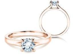 Verlobungsring Modern in 14K Roségold mit Diamant 0,50ct