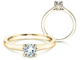 Verlobungsring Romance in 18K Gelbgold mit Diamant 0,50ct