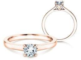 Verlobungsring Romance in 18K Roségold mit Diamant 0,50ct