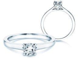 Verlobungsring Romance in 14K Weißgold mit Diamant 0,50ct
