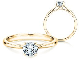 Solitärring Delight in 14K Gelbgold mit Diamant 0,50ct