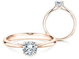 Solitärring Delight in 14K Roségold mit Diamant 0,50ct
