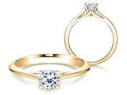 Solitärring Heaven 4 in 14K Gelbgold mit Diamant 0,50ct