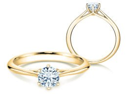 Solitärring Heaven 6 in 14K Gelbgold mit Diamant 0,50ct