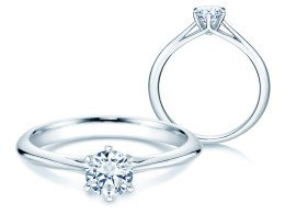 Solitärring Heaven 6 in Platin mit Diamant 0,50ct