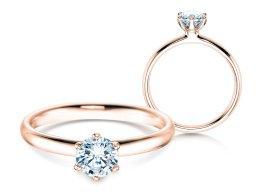 Verlobungsring Classic in 14K Roségold mit Diamant 0,60ct