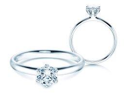 Verlobungsring Classic in Platin mit Diamant 0,60ct