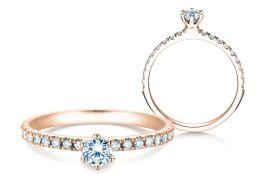 Verlobungsring Classic Pavé in 14K Roségold mit Diamanten 0,40ct