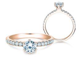 Verlobungsring Classic Pavé in 14K Roségold mit Diamanten 0,85ct