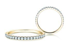 Verlobungsring Dusk in 14K Gelbgold mit Diamanten 0,35ct