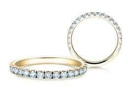 Verlobungsring Dusk in 14K Gelbgold mit Diamanten 0,55ct