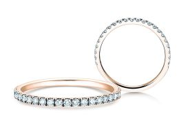 Verlobungsring Dusk in 14K Roségold mit Diamanten 0,35ct