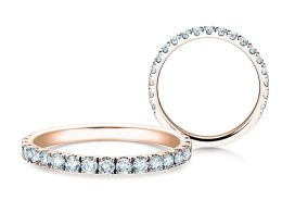 Verlobungsring Dusk in 14K Roségold mit Diamanten 0,55ct