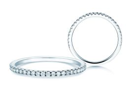 Verlobungsring Dusk in 14K Weißgold mit Diamanten 0,25ct