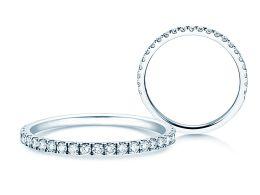 Verlobungsring Dusk in 14K Weißgold mit Diamanten 0,35ct