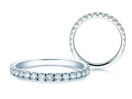 Verlobungsring Dusk in 14K Weißgold mit Diamanten 0,55ct