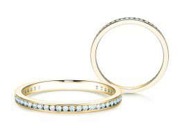 Endless Love in 14K Gelbgold mit Diamant 0,20ct