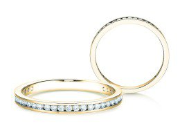 Endless Love in 14K Gelbgold mit Diamant 0,33ct