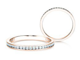 Endless Love in 14K Roségold mit Diamant 0,33ct