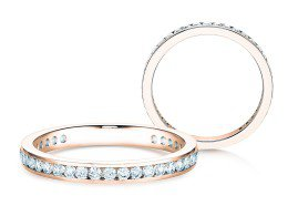 Endless Love in 14K Roségold mit Diamant 0,50ct