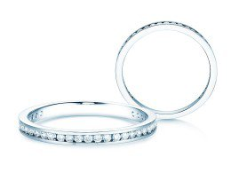 Endless Love in 14K Weissgold mit Diamant 0,33ct