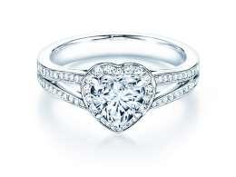 Verlobungsring Flame in Platin mit Diamant 1,54ct