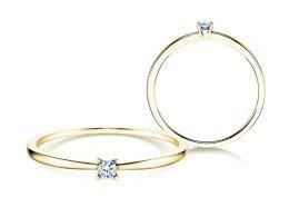 Verlobungsring Modern Petite in 14K Gelbgold mit Diamant 0,05ct