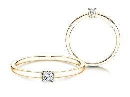 Verlobungsring Modern Petite in 14K Gelbgold mit Diamant 0,11ct